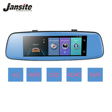 "Jansite 4G WIFI Car DVR 7.84"" GPS Touch ADAS Car Camera Remote Monitor Rear view mirror Android 5.1 Dual lens 1080P dashcam(China)"