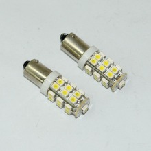 Drop Shipping- 100%Brand factory cheap wholesale New 2 PCS Ba9s 25 SMD LED White Car Side Light Bulb Lamp 12V DC