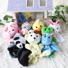 Plush finger Puppets Baby Lovely Mini Animal Finger Dolls Tell A Story Toy Flannel Toy Fingures Puppet Early Learning