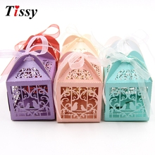 25PCS DIY Birds Candy Box Wedding Favors Paper Gift Box Handmade Candy Boxes Kids Birthday/Christams/Wedding Party Decoration(China)
