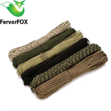 10M Paracord 550 Paracord Parachute Cord Lanyard Rope Mil Spec Type III 7 Strand Climbing Camping Survival Paracord(China)