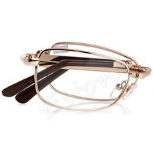 A40 New Unisex women men 1PC Folding Metal Reading Glasses +1.00 1.50 2.00 2.50 3.00 3.50 4.00 Diopter + Case