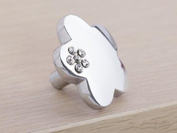 Sparkle Glass Dresser Drawer Knobs Pulls Handles Silver Clear / Crystal Kitchen Cabinet Knobs Handle Pull  Diamond Knob<br><br>Aliexpress