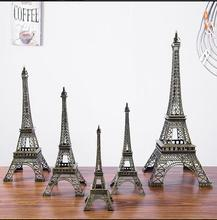Large Size!48cm Height Eiffel Tower Metallic Model Crafts Vintage Bronze Color Separation Design For Home&Office Decoration(China)