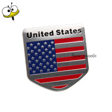 Car Styling Auto Car Sticker Emblem Badge Decal For USA Flag Logo For Fiat 500L Chrysler 200 300 BMW M2 M3 Benz E300 Ford Focus(China)