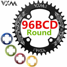 VXM Bicycle Crank&Chainwheel 96BCD 32T/34T/36T/38T Round Narrow Wide Chain ring MTB Road Bike Crankset Chainwheel Bicycle Parts(China)