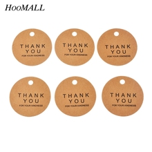 Hoomall 100PCs Kraft Tags Price Tags For Clothing Hanging Tag Labels Gift Wedding Party Decor Scrapbooking Paper Tags 4.3cm