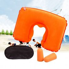 New Arrival 2017 New Inflatable Travel Pillow Air Cushion Neck U-Shaped Compact Plane Set