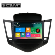 SINOSMART 9'' Support 4G 4 Core RAM 2G/1G Android 5.1 Car Audio GPS Navigation Player for Chevrolet Cruze 2009-2015 with Canbus