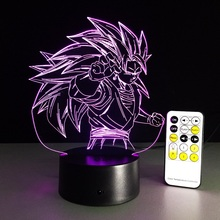Dragon Ball Z Super Saiyan 4 Goku Action &Toy Figures Gift 3D LED Table Lamp PMMA 7 Color Changing Figures Dragon Ball Z Figures