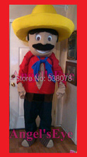 mexican Mascot Costume Adult Farmer Theme Cartoon mexican man Anime Cosplay Dress Carnival Birthday Party Fancy Dress Kits(China)