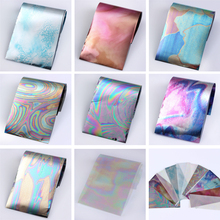 1 Pack 12 Colors Starry Sky Nail Foils Multicolor 4*16 cm DIY Nail Decor Manicure Nail Art Transfer Stickers(China)
