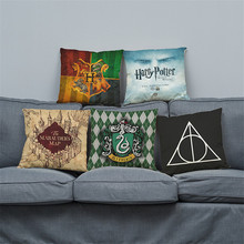 wholesale wedding gift cushion cover London classic magic harry potter pillow cover car home sofa party decorative pillow case(China)