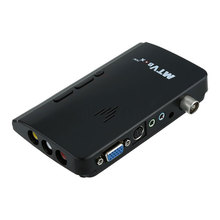 LCD CRT VGA External TV Tuner PC BOX Receiver Tuner HD 1080P Speaker TV Box With Remote Control