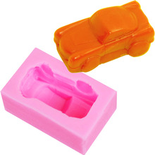 M324 Design Car Silicone Soap Cake Mold Cake DecoratingTools Chocolate Silicone Mold Mould 6.5*3.8*2.1cm(China)