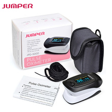 JUMPER New Finger Pulse Oximeter Blood Oxygen Saturation Waveform Oximetro Monitor for Health Care Free Ship