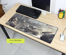 Mairuige 900x400x3mm Tank World Customized Mouse Pad Oversized Mouse Pad Table Pad Keyboard Pad Natural Rubber Thicker(China)