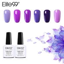 Elite99 10ml Purple Color Series Nail Gel Varnish Top Base Coat Needed Long Lasting Nail Gel Polish Soak Off Nail Art Gel Design(China)