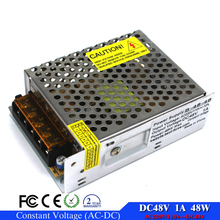 Adjustable DC48V power supply Switching 1A 48W Driver AC110V 220V to DC 48V SMPS For CNC CCTV Motor Stepper(China)