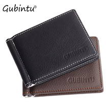 GUBINTU Men Leather wallet Ultrathin Luxury Credit Card ID Card Holder Slim Purse Clutches Mens Wallet 2017 Hot Sale