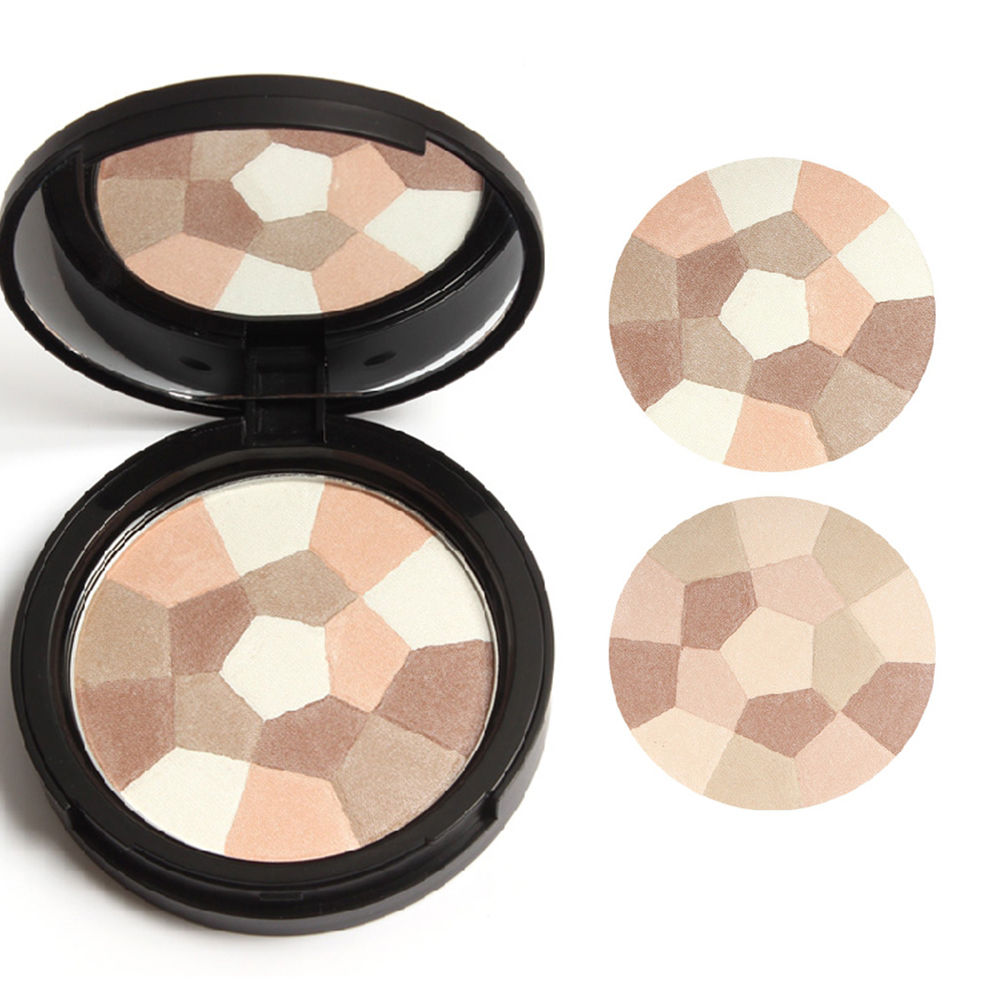 Natural Face Powder Palettes Foudation Nude Multi-Colored Pressed Powder Makeup<br><br>Aliexpress
