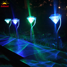 Oobest 3 Types Solar Diamond Lights Color-changing Power Yard Garden Light Waterproof LED Outdoor Lamp Landscape Lights(China)