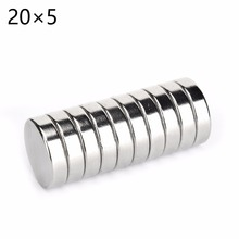 5pcs 20*5 Strong Disc Magnets Dia 20mm x 5mm N50 Rare Earth Neodymium Magnet 20x5 20mm*5mm free shipping(China)
