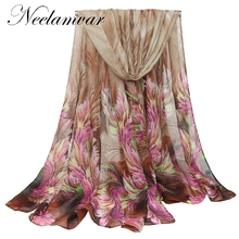 Neelamvar high quality WOMAN SCARF cotton voile polyester scarves warm autumn and winter scarf shawl printed free shipping(China)