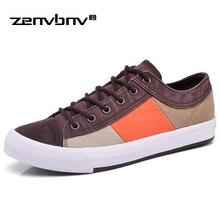 ZENVBNV Canvas Shoes Men Casual Shoes Breathable Wear-resistant Shoes Comfortable Sneakers Lace-up Flat Shoes Zapatos Hombre
