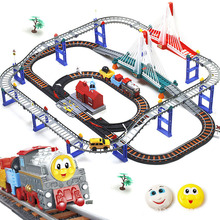 Electric edward thomas and friends train set  thomas train track set  Kids educational toys with music & light