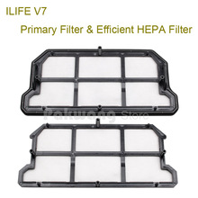 Original ILIFE V7 Primary Filter 1 pc and Efficient HEPA Filter 1 pc of  Robot Vacuum Cleaner Parts from factory