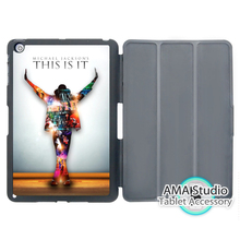 Micheal Jackson On Stage Case For Apple iPad Mini 1 2 3 4 Air Pro 9.7 Stand Smart Folio Cover(China)
