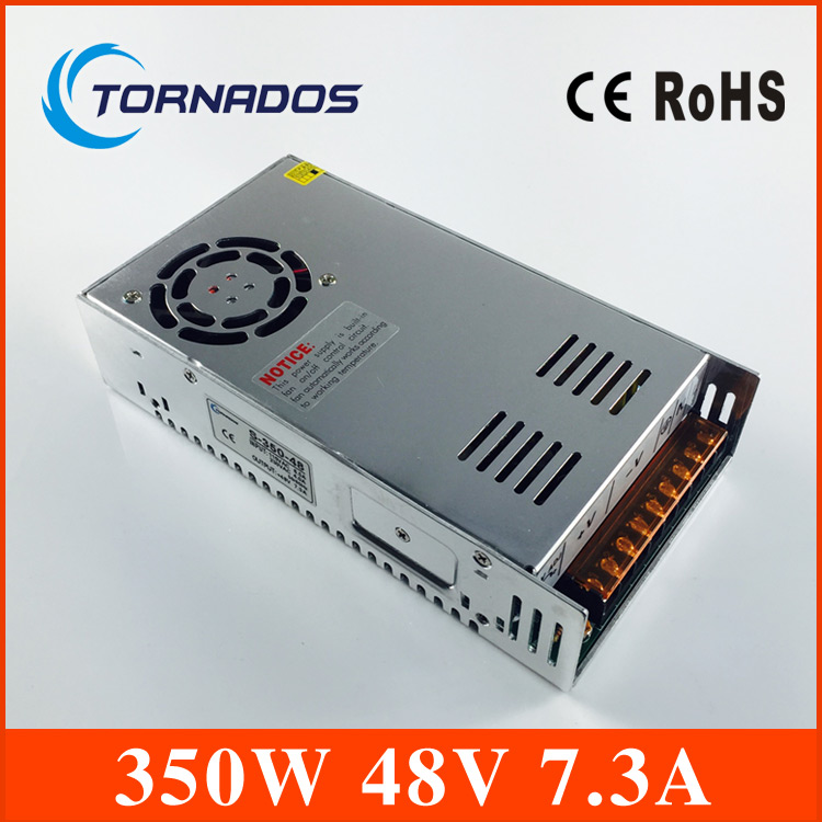 350W 48V 7.3A Single Output Switching power supply for LED Strip  light AC to DC S-350-48 Factory direct sales<br>
