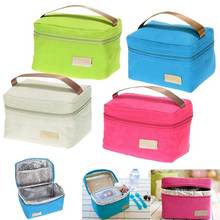 Travel Oxford Tinfoil Insulated Cooler Thermal Picnic Lunch Bag Waterproof Tote Lunch Bag for Kids Adult Hot Sale