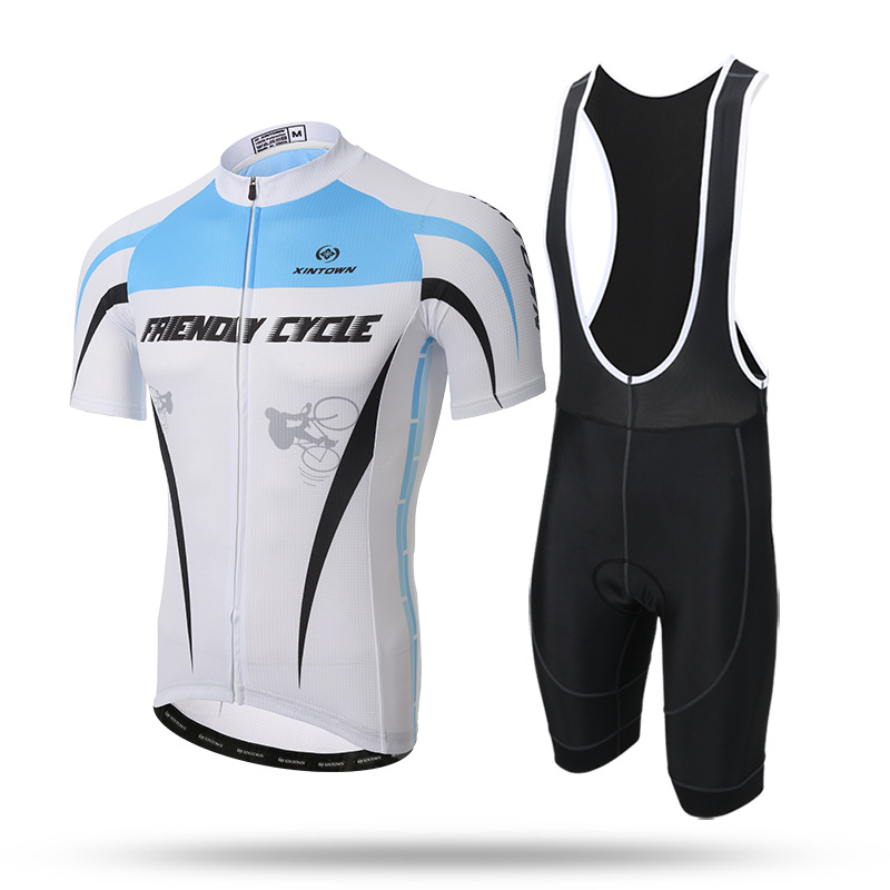 Q465 New 2017 cycling condole belt suit with short sleeves  bicycle short-sleeved summer sling suit NEW Cycling Bib Shorts<br>