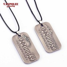 The Lost Tomb Silver Necklaces & Pendants Time Raiders Kylin Zhang Wuxie Army Tag Logo Necklace Cosplay Jewelry Colar Feminino