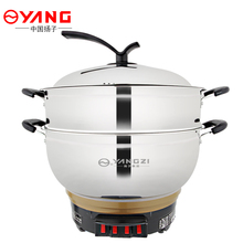 WUXEY Electric Hot Pot Multifunctional Wok Household Electric Food Steamer Thickening Electric Hot Pot Small Cooker Stew Pot