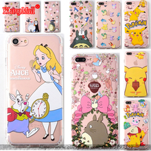 Cartoon Cute Lovely Totoro & Alice in Wonderland Shockproof Soft TPU Cell Phone Case for iPhone 8 7 6 6S Plus 6plus 7plus 8plus