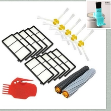 HEPA Filter + Debris Extractor + side brush + Gift Clean brush Kit For iRobot Roomba 800 860 864 870 880 980 replacement parts