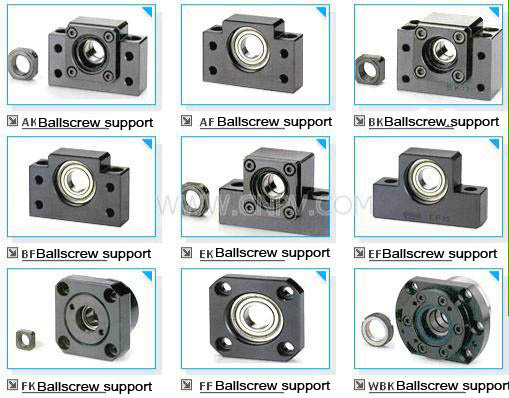 1pc BK20 ballscrew fixed side support mill<br>