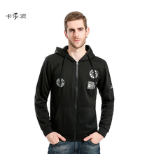 KALEBO 2017 Men's Hoodies Flying Sack Sleeves Various Patterns Men's Casual Hooded HoodyLoose Style Cotton Fabric Free Shipping(China)