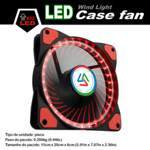 ALSEYE 120mm LED Computer Fan Cooler Red and Blue 32 LEDs Silent PC Cooling Fan for CPU Cooler / Water Cooling, 12v 1100RPM(China)