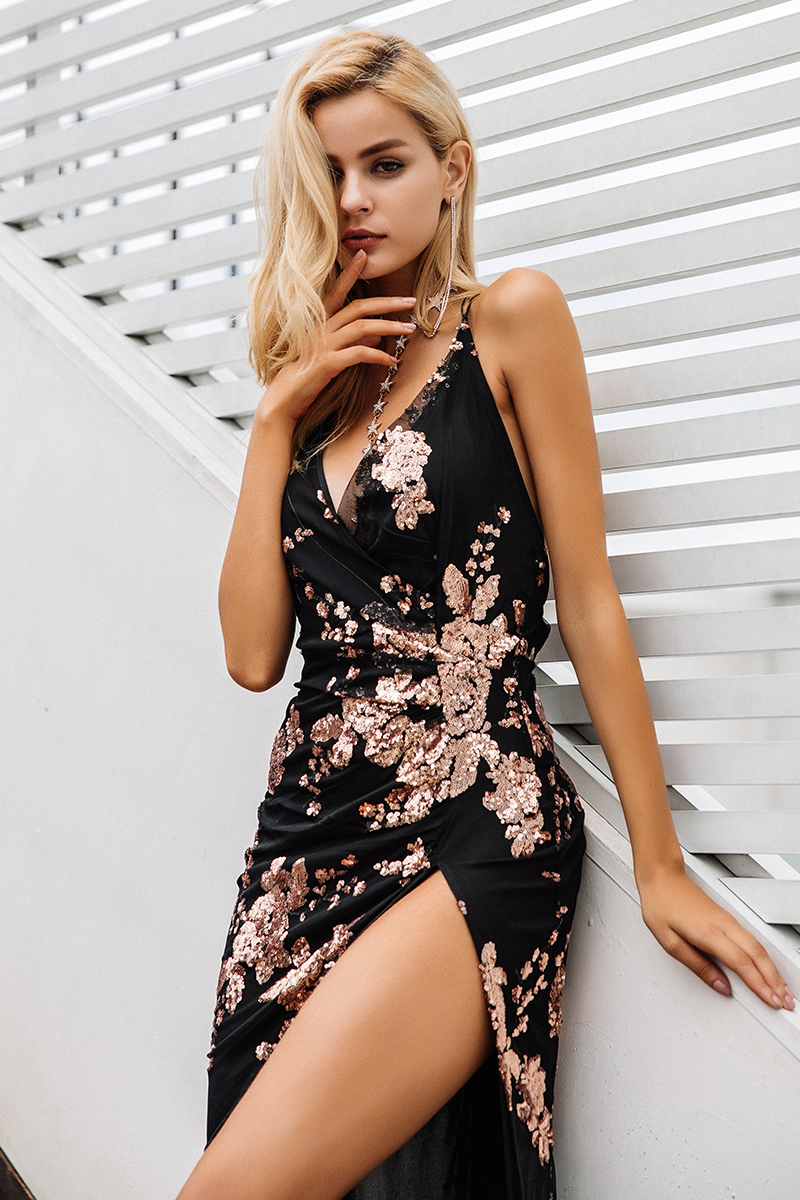 Simplee Sexy lace up Ankle-Length Dress 9