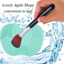 Silicone Makeup Brush Cleaning Mat Pad Washing Tools Hand Scrubber Board Washing Cosmetic Brush Cleaner With Sucker Best Selling