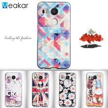 Relief Painted Pattern Soft Silicon 5.2for Nexus 5X Case For LG Nexus 5X Cell Phone Back Cover Case