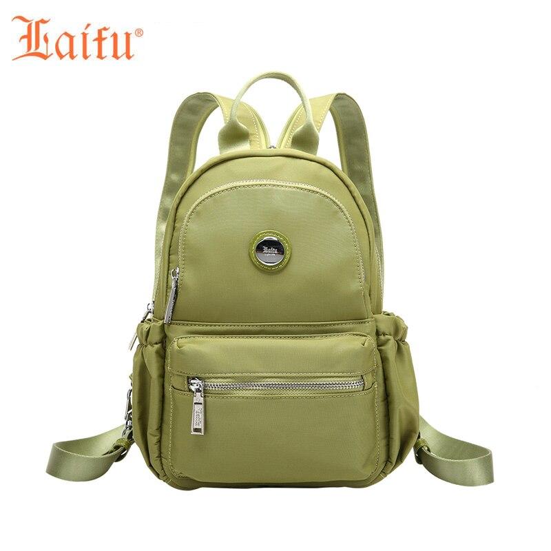 Laifu Women Nylon Backpack Lightweight Crossbody Chest Bag Pack Casual Female Bag Waterproof Shopping Travel Weekend <br>