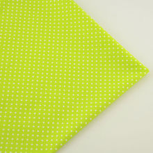 Small White Dot Patchwork Green Cotton Fabric Tecido Decoration Sewing Children Cloth Craft Bedding Curtain Fat Quarter Art Work