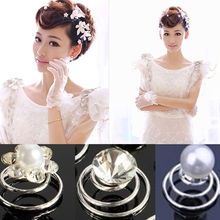 6Pcs Bridal Wedding Prom Crystal Rhinestone Pearl Flower Hair Coils Swirl Spiral Twist Hair pins Clips Grips Accessories