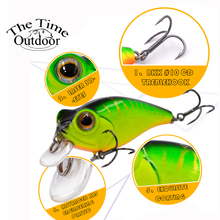 New Color The Time Fishing Lure Fishing Bait Crank Lure Floating Artificial Lures Crankbait Hard Fishing Bass Lure 5.6g/48mm
