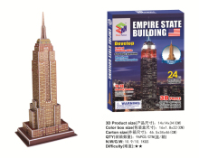 Famous building Model Empire State Building three-dimensional puzzles DIY Toys 3D Puzzle for children and adult jigsaw puzzle